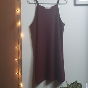 Burgundy Shift tank-dress